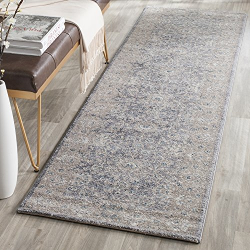 - Safavieh Sofia Collection SOF330B Vintage Light Grey and Beige Distressed Runner (2'2
