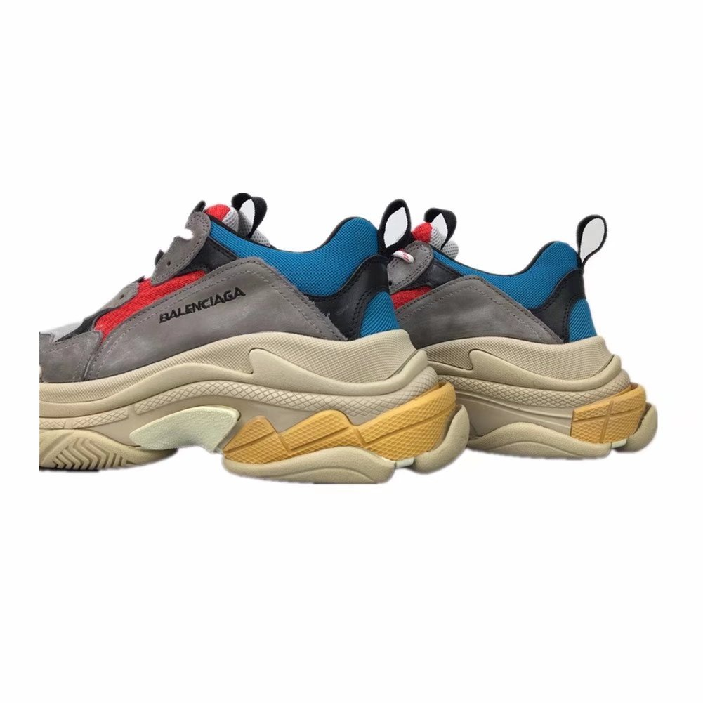 Balenciaga Shoes MenS & WomenS Vintage Triple S Trainers Fashion Sneakers Red EU44: Amazon.es: Zapatos y complementos