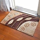 Door mat door mat door bathrooms in the Hall toilet bathroom mat absorbent bathroom mat rug mat Brown