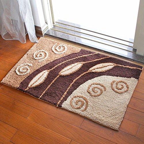 Door mat door mat door bathrooms in the Hall toilet bathroom mat absorbent bathroom mat rug mat Brown by ZYZX