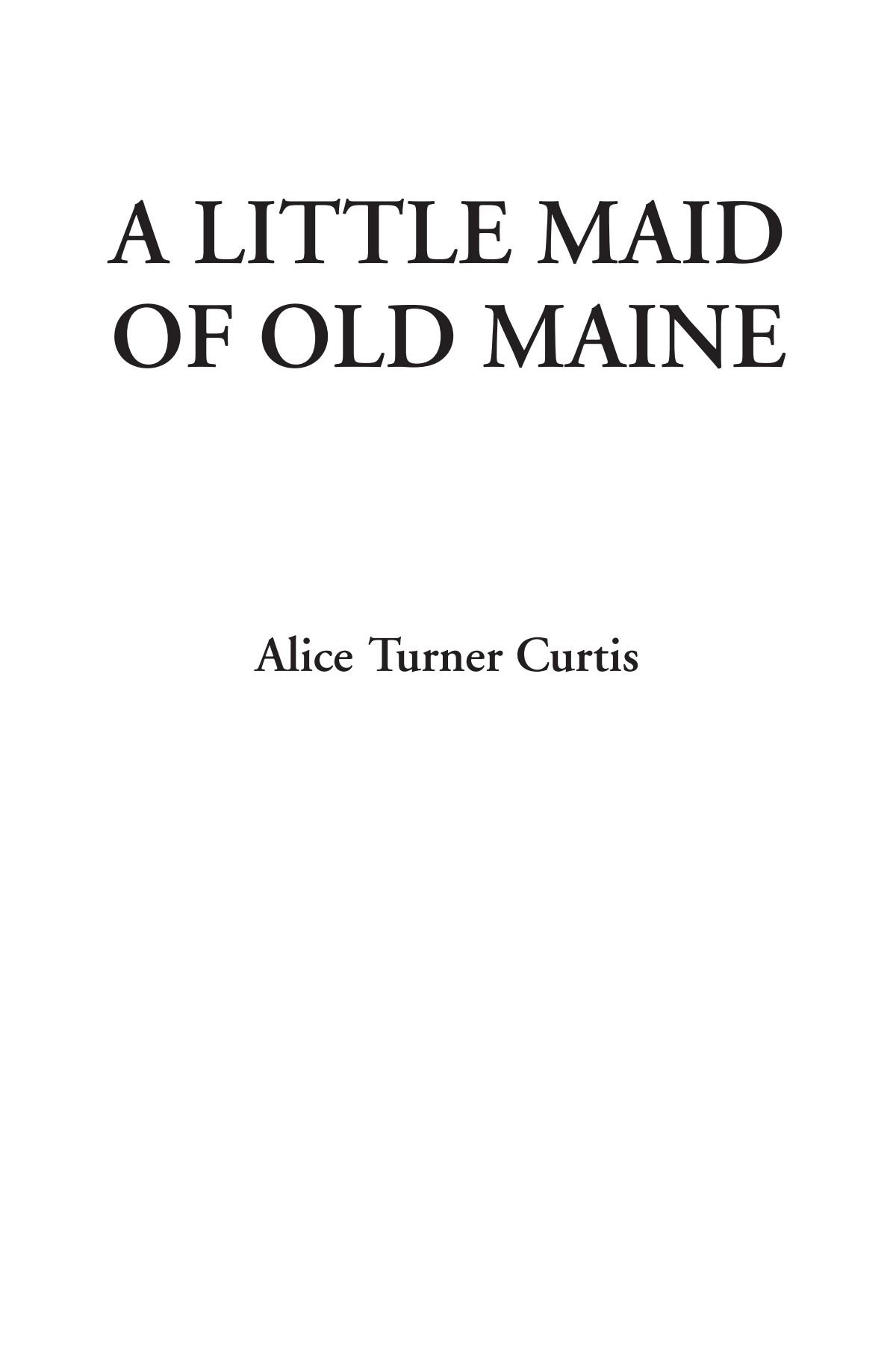Download A Little Maid of Old Maine pdf epub