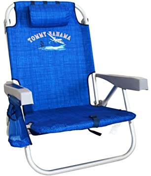 Amazon Com Tommy Bahama Backpack Cooler Chair Blue Patio