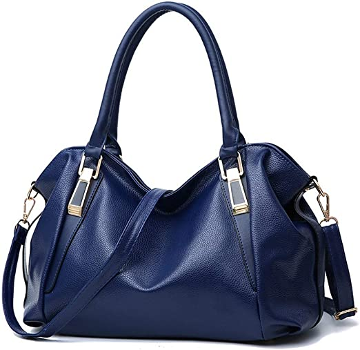 Multi-Pocket Backpack Mihaojianbing Handbag Womens Fashion Tote with Long Shoulder Strap Color : Blue Black//Blue//Red,361441CM Reasonable Layout Soft Pebbled PU Material