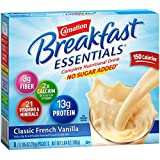 Carnation Breakfast Essentials, No Sugar Added Classic French Vanilla Powder, 0.7 oz.,  8-Count Envelopes (Pack of 8) (Packaging may vary)