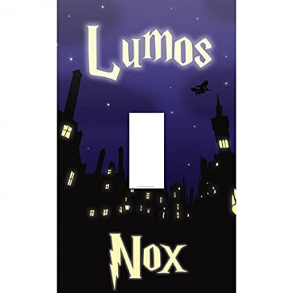 photograph about Printable Light Switch Cover Template identify : AttractionOil Items Lumos - Nox Harry Potter