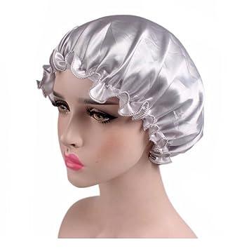 175bb5900fe Dsoar natural silk sleep night cap head cover bonnet hat for women girls silk  sleep caps