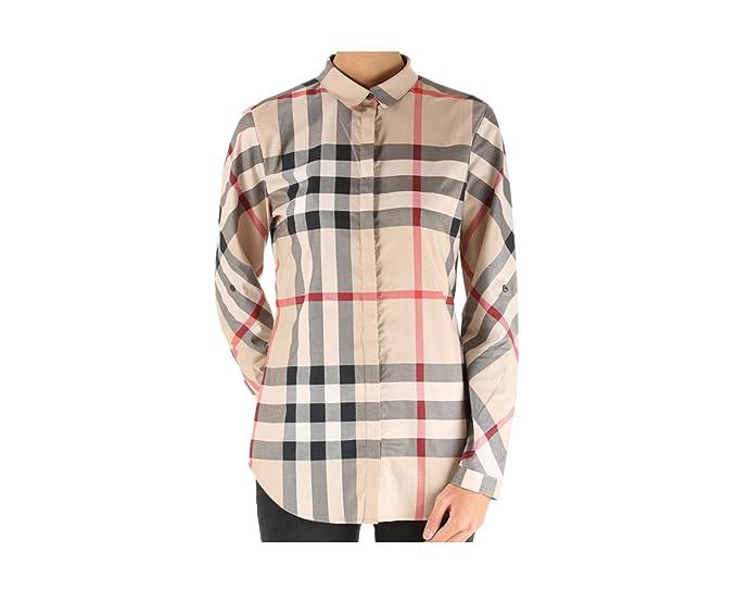 1e91b8d802 BURBERRY Camicia Donna New Classic Check 3918091 (M): Amazon.it ...