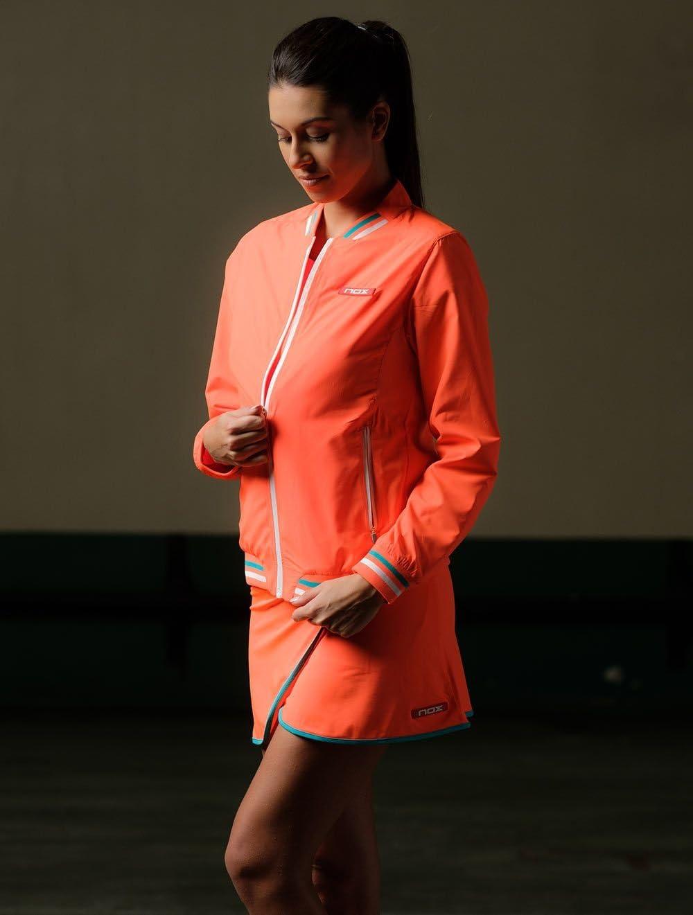 NOX Cortavientos Padel Neon Coral Woman