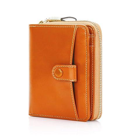 64e93fc1f Mini Carteras Mujer Monederos de Mujer Gran Capacidad con RFID Bloqueo  Bolsos Corto de Mujer con