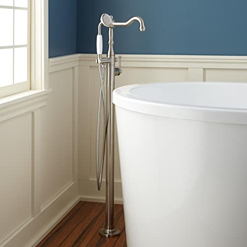 Signature Hardware 927806 Sidonie Floor Mounted Tub Filler- Includes Telephone S