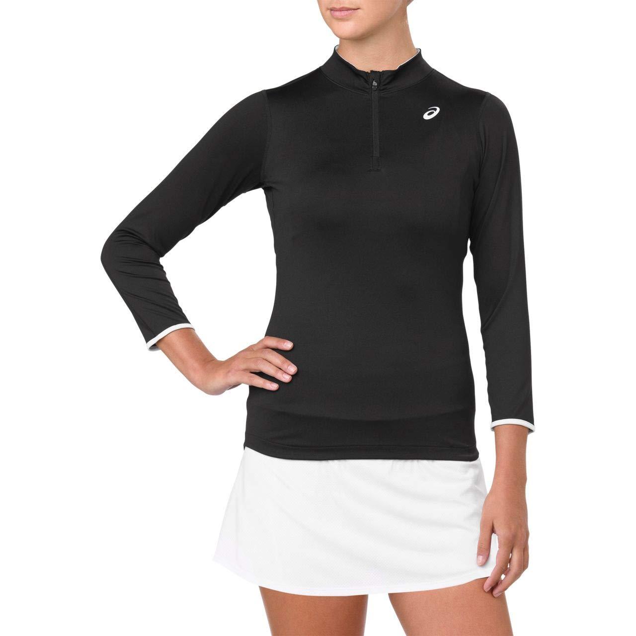 ASICS Women's Elite 3/4 Sleeve, Performance Black - Large