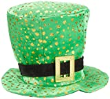 : Green Top Hat with Golden Shamrock Splatter