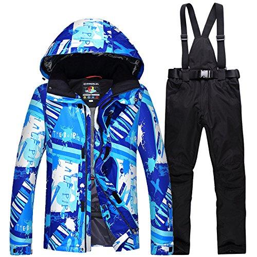 DYF Los Hombres/Mujeres Coat Chaqueta de Ski Pantalones Impermeables a Prueba de Viento cálido Zipper: Amazon.es: Ropa y accesorios