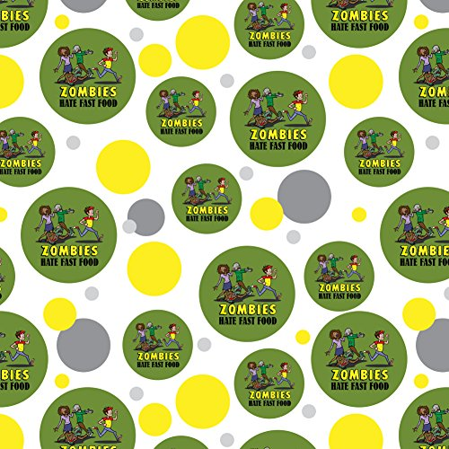 GRAPHICS & MORE Zombies Hate Fast Food Funny Premium Gift Wrap Wrapping Paper Roll ()