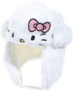 c1c27b77d3f6 Chapka fourrure bébé enfant fille Hello kitty Rose et Blanc de 9 à 36 mois (