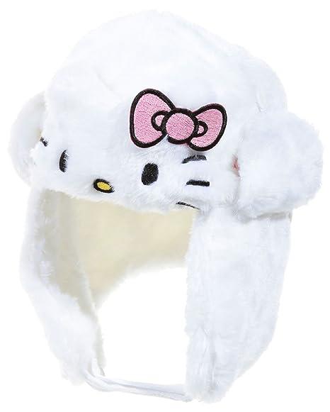 654e8df9234 Chapka fourrure bébé enfant fille Hello kitty Rose et Blanc de 9 à 36 mois (