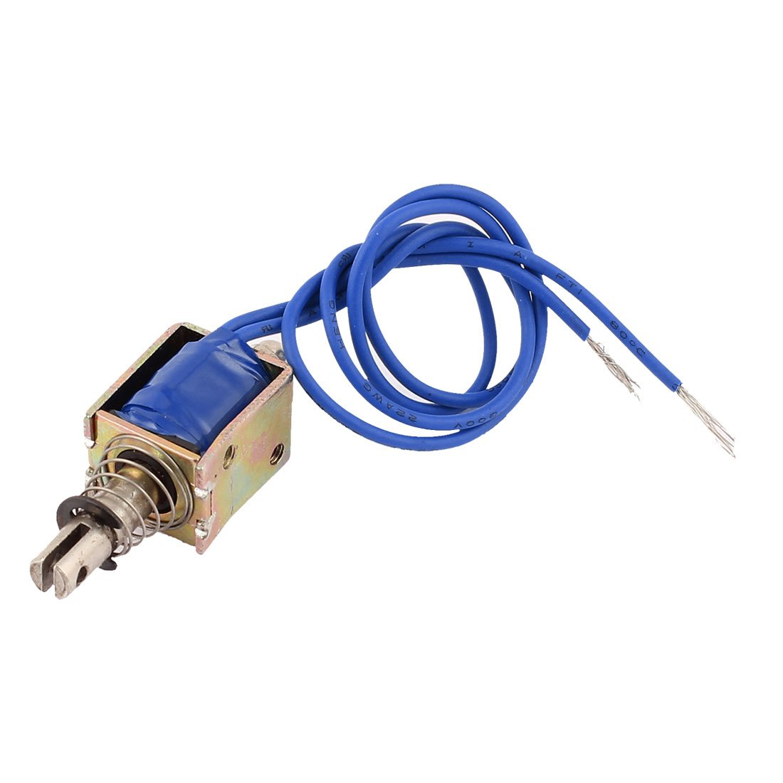 sourcingmap® DC 6V 800mA 40g 10mm Pull Push Type Open Frame Solenoid Electromagnet a15071800ux0544