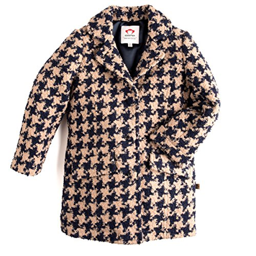 Appaman Big Girls' Houndstooth Top Coat, 5 by Appaman
