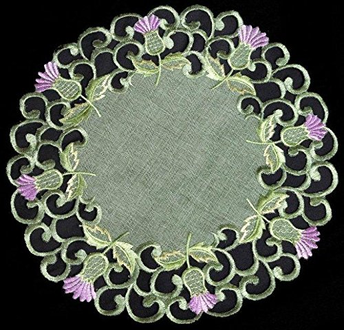 Doilie (large) in a Balmoral Thistle Design (Green)