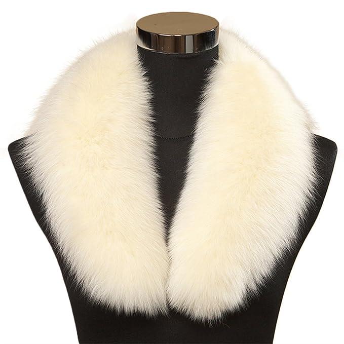 Luxus Damen Lang Schal Stola Pelzkragen für Jacke Mantel Schals Wrap Kragen Neu