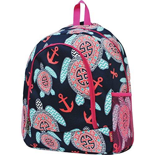 Sea Turtle Anchor Print NGIL School Backpack