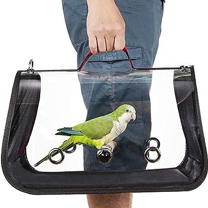 PRETTYLE - Jaula de Viaje Ligera para pájaros (PVC, Transpirable ...