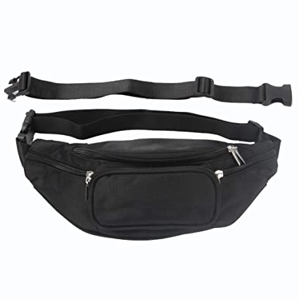 ffe2287b5b8 LOKEP Fanny Pack Waist Bag for Men Women Earphone Hole with 6 Pockets  Adjustable Band - Workout Hiking Traveling Running - Easy Carry Any Phone  ...