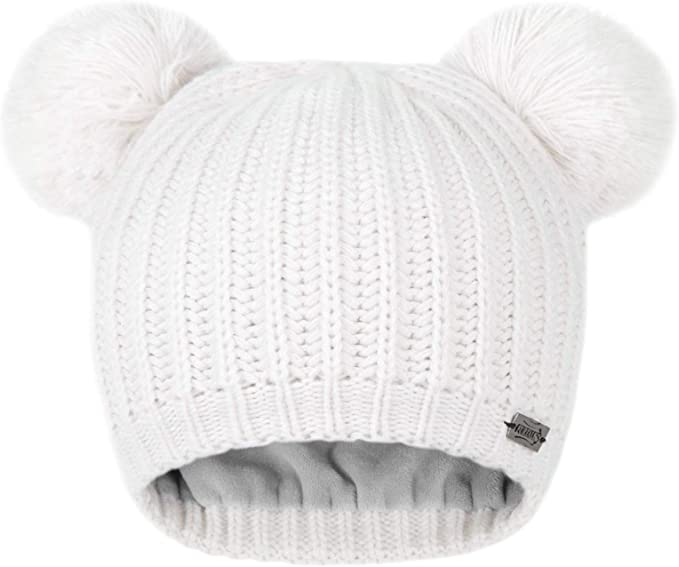 Girls winter hat Winter hat Christmas gift Pom Pom Beanie Double Pom Pom hat Toddler beanie Pom Pom hat Photo Prop Baby shower gift