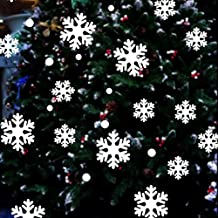Anboo Christmas Wall Window Stickers Snowflake Xmas Art Decoration Decals
