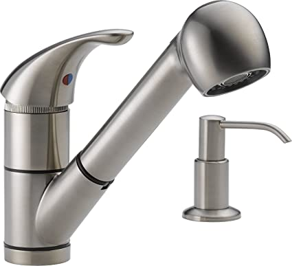 Peerless P18550lf Sssd Choice Single Handle Kitchen Pull Out Faucet
