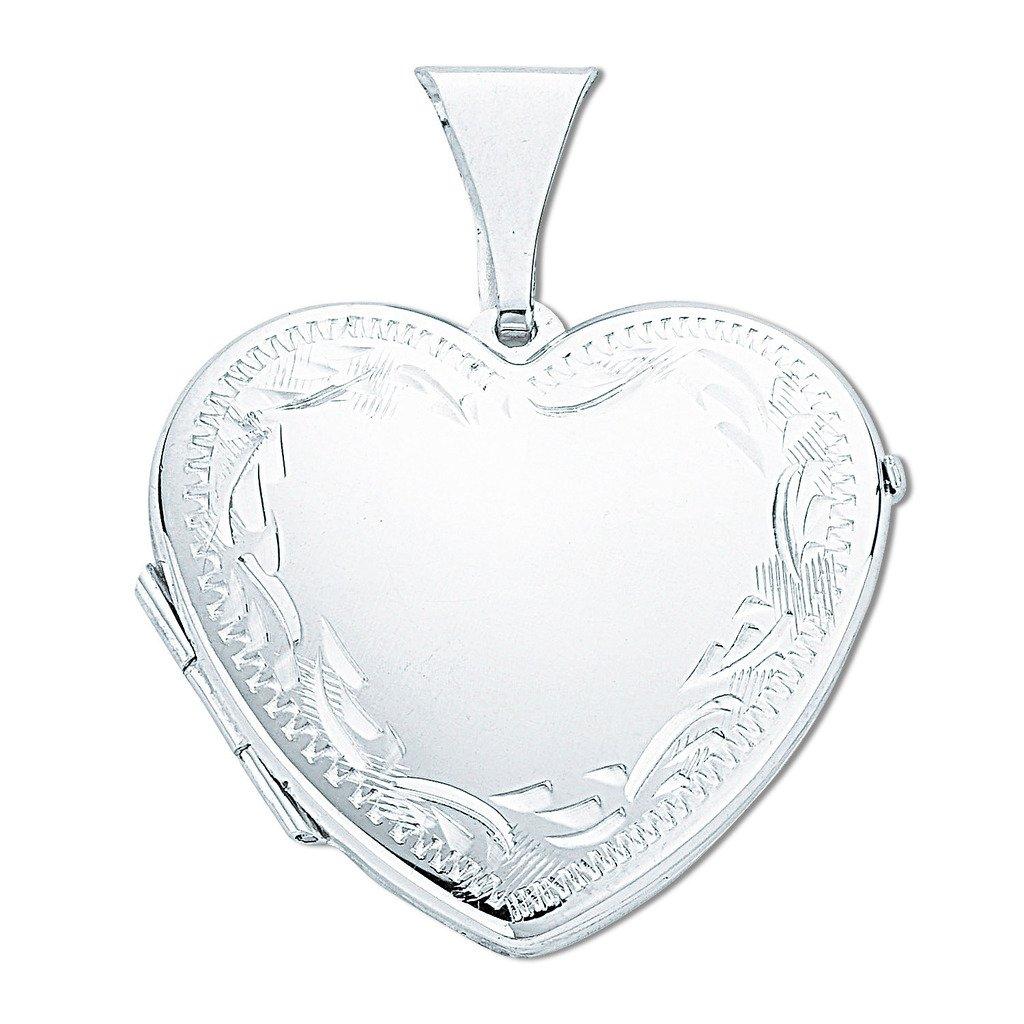 Sterling Silber groß Gravur Herz Medaillon Anhänger 30 mm B079WV952X Schlüsselanhänger Schön und charmant     | Bestellungen Sind Willkommen