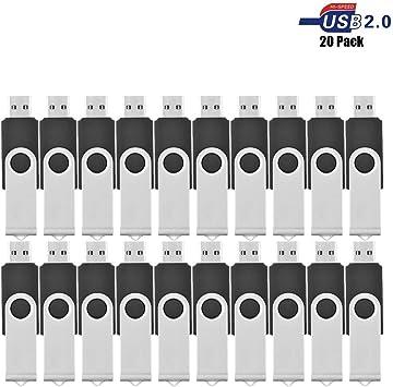 VIEKUU 10 & 20 Pack USB Sticks Negro 20 - Negro 1 GB: Amazon.es ...