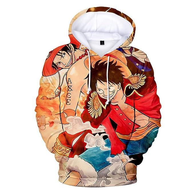 One Piece Sudadera con Capucha Unisex 3D Manga, diseño de Anime, Cosplay, Pullover Sudaderas: Amazon.es: Ropa y accesorios
