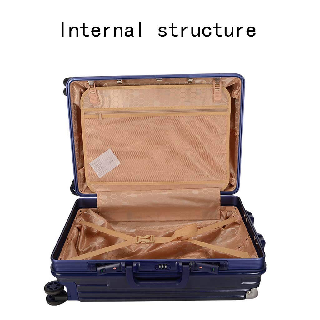 Color : Cream, Size : 22 inches CLOUD Luggage Sets Travel Suitcase Male and Female Lightweight ABS Portable Consignment Suitcase Trolley Case Lock 4 Wheels
