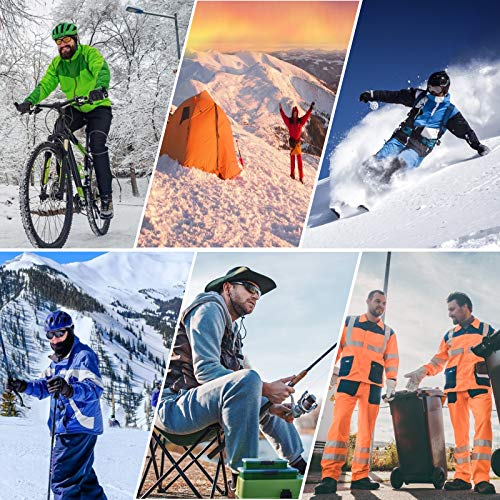 Calze riscaldanti per uomini e donne, calze da sci invernali da uomo riscaldate elettricamente, 2*5000 mah batterie ricaricabili Usb scaldapiedi a 360° per caccia, pesca, escursionismo, campeggio
