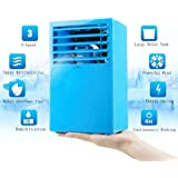 Madoats 9.5-inch Super Mini Portable Air Conditioner Fan Small Desktop Fan Quiet Personal Table Fan Mini Evaporative Air Circulator Cooler Humidifier,Blue
