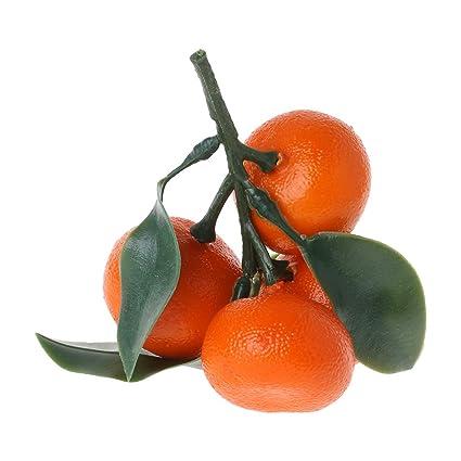 Bogji - Frutero Realista Realista, plástico Artificial, Naranjas, decoración de Alimentos para el