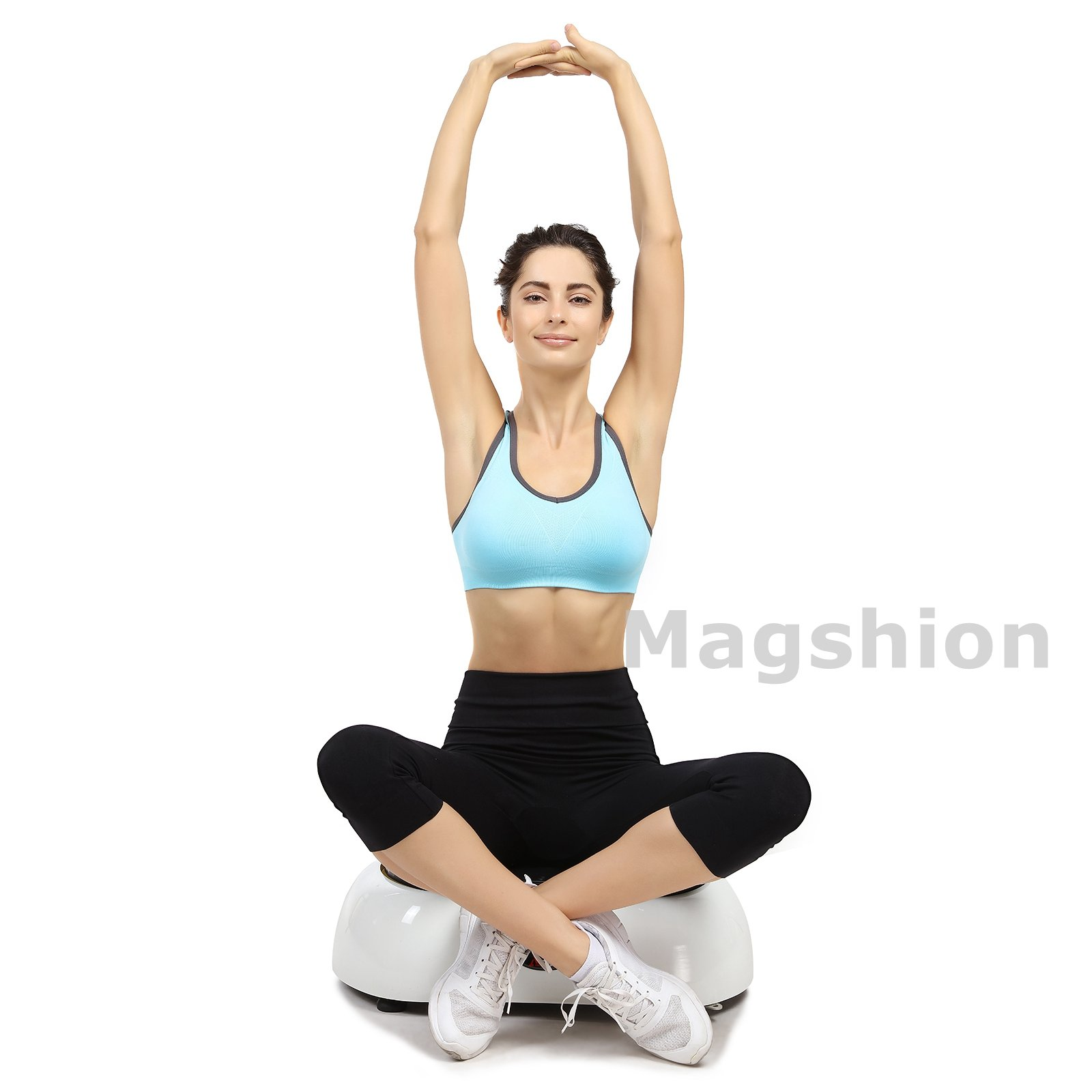 X-MAG Portable Whole Body Vibration Fitness Trainer Platform Machine with Straps, White by X-MAG (Image #6)