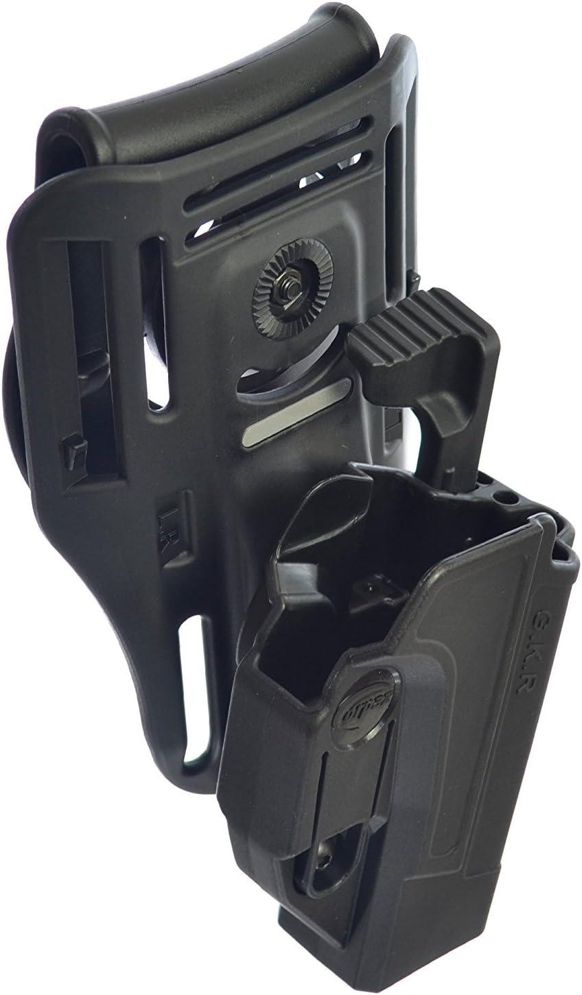 Orpaz Defensa Lowride cinturón + táctica thmub liberación Seguridad Holster, Tention Ajuste Roto Paddle para Todos 1911con/sin riel Picatinny Rail–Colt, Sig, Kimber, S & W, Taurus, Ruger y más