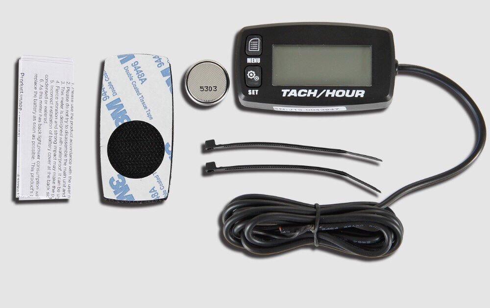 Runleader HM032R tac/ómetro inductivo con pantalla retroiluminada contador de horas para todos los motores de gasolina ATV UTV dirtbike motobike moto moto de nieve fuera de borda pitbike PWC embarcaci/ón marina