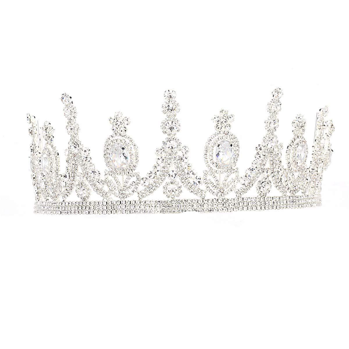 Wedding Crown, Beautiful headdress/Luxurious Brides Artificial Zircon Diamond Crown Headwear Wedding Dress Accessories Stage Dinner Accessories.