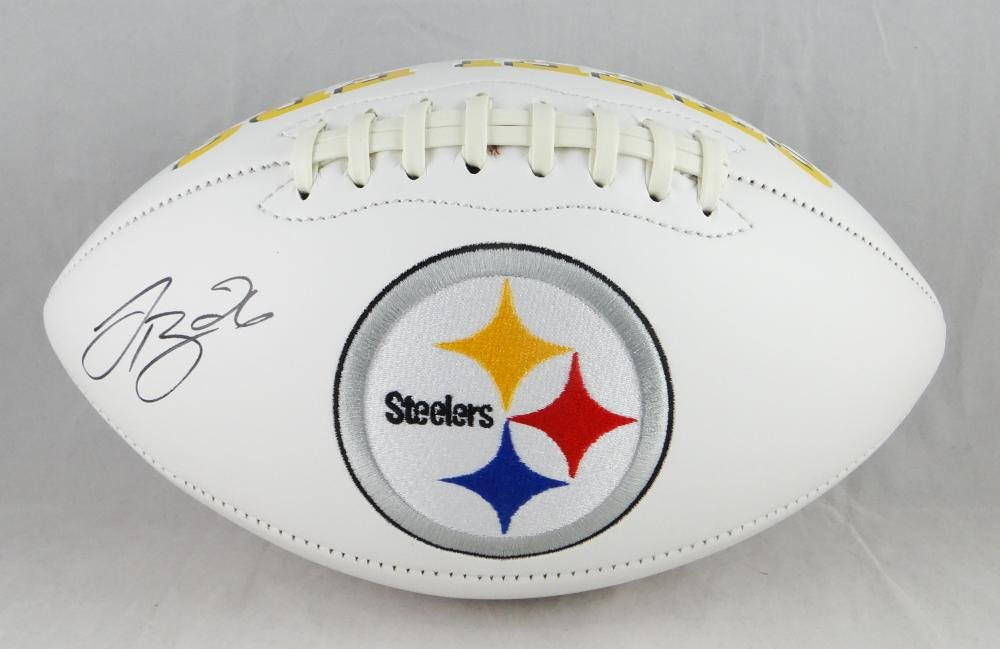 LeVeon Bell Autographed Pittsburgh Steelers Logo Football- JSA W Authenticated