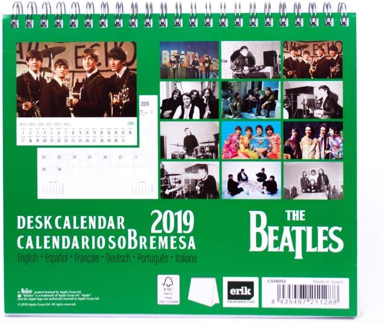 Grupo Erik Calendario Da Tavolo 2019 The Beatles 17 X 20 Cm