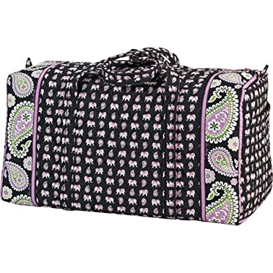 9c8a2d0f5da1 Image Unavailable. Image not available for. Color  Vera Bradley Large Duffel  - PINK ELEPHANTS