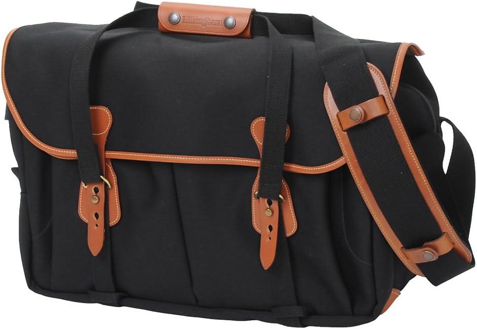 Billingham 555 Camera Bag (Black Canvas / Tan Leather)