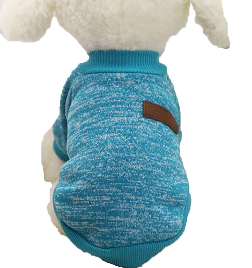 Pet Sweater ,AmaMary88 Lovely Pet Dog Puppy Classic Sweater Fleece Sweater Clothes Warm Sweater Winter (M, Dark blue)