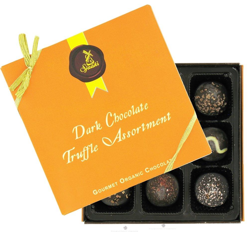 Sjaak's Organic Chocolate - Truffle Assortment Gourmet Organic Dark Chocolate - 9 Piece(s)