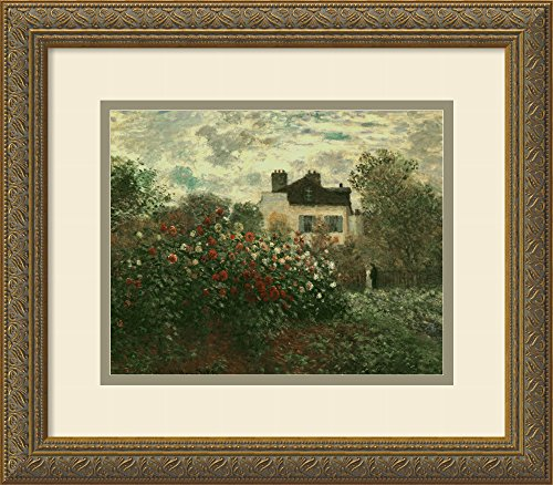 Framed Art Print, 'The Artist's Garden at Argenteuil, 1873' by Claude Monet: Outer Size 16 x 14