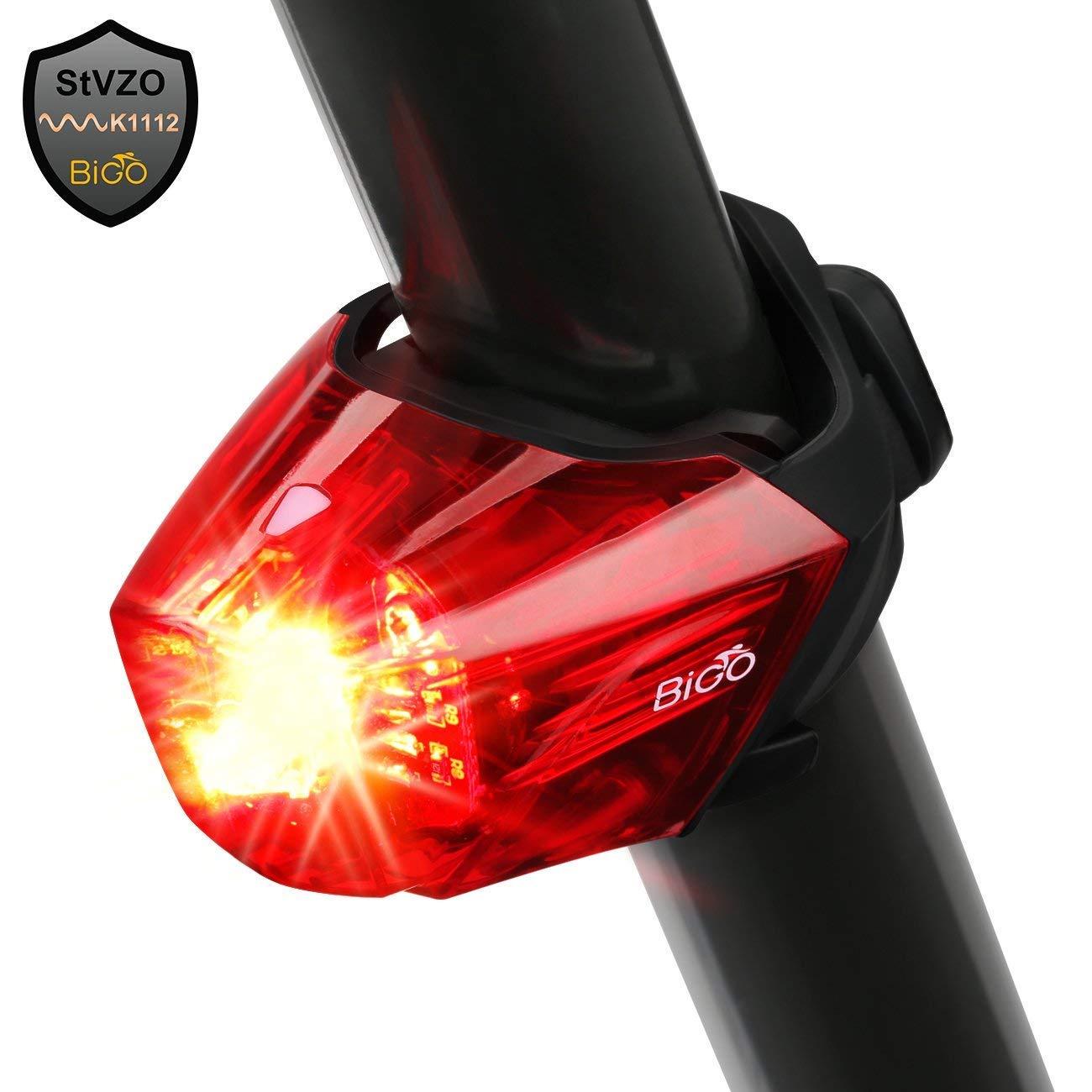 USB Rechargeable Bike Tail Light Fivanus Sport LED Rear Bike Light Ultra Bright