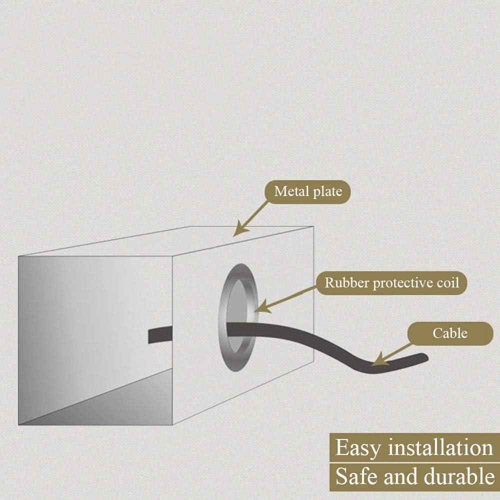 KINDPMA 180pcs Kit Passe-fil en Caoutchouc Joint Torique Passe C/âble pour Protection de C/âble Electrique et Fils-8 tailles diff/érentes-Noir et Blanc